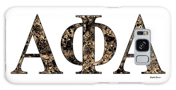 Alpha Phi Alpha - White Galaxy Case by Stephen Younts