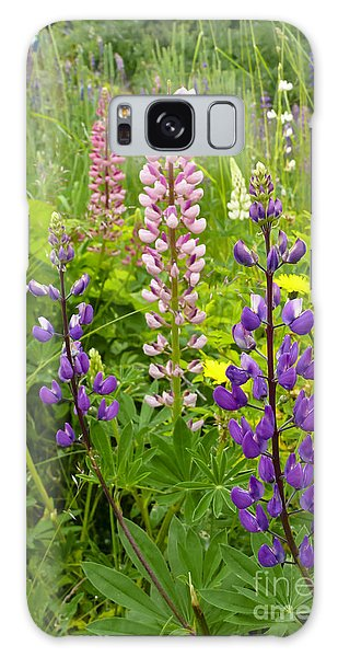 Alpine Lupines Galaxy Case
