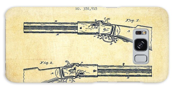 Weapons Galaxy Case - Alston Firearm Patent Drawing From 1887- Vintage by Aged Pixel