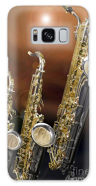 Alto Tenor Baritone Saxophone Photo In Color 3461.02 Galaxy Case by M K  Miller