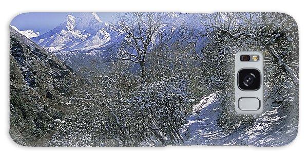 Ama Dablam In Winter Galaxy Case by Rudi Prott