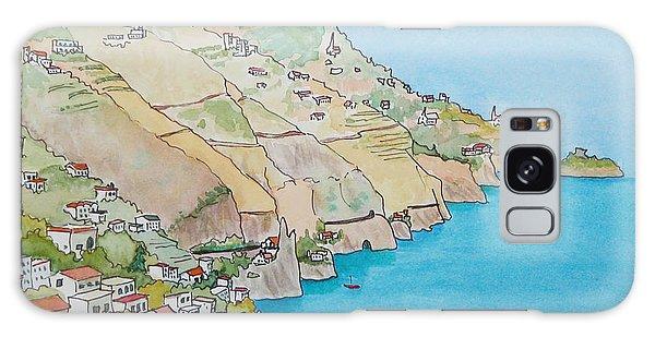 Amalfi Coast Praiano Italy Galaxy Case by Mary Ellen Mueller Legault