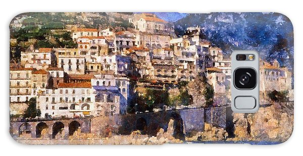 Amalfi Town In Italy Galaxy Case