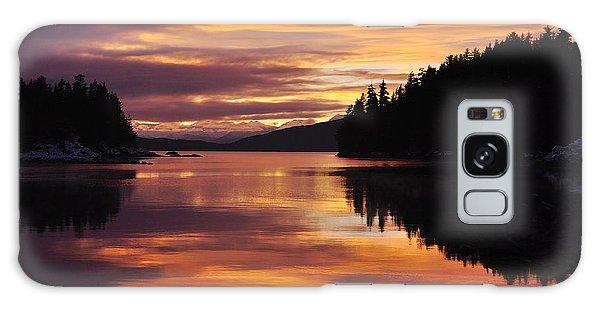Amalga Harbor Sunset Galaxy Case by Cathy Mahnke