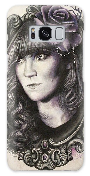 Amanda Denis - Tribute Portrait  Galaxy Case by Sheena Pike