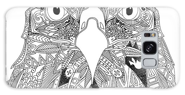 Feather Stars Galaxy Case - Amarican Eagle Black White by MGL Meiklejohn Graphics Licensing
