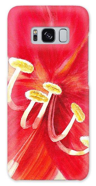 Amaryllis Galaxy Case - Amaryllis Flower by Irina Sztukowski