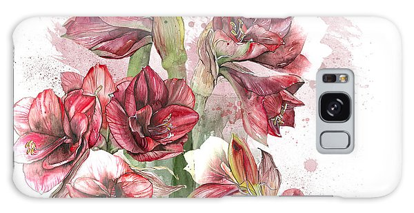 Amaryllis Flowers - 4. - Elena Yakubovich Galaxy Case