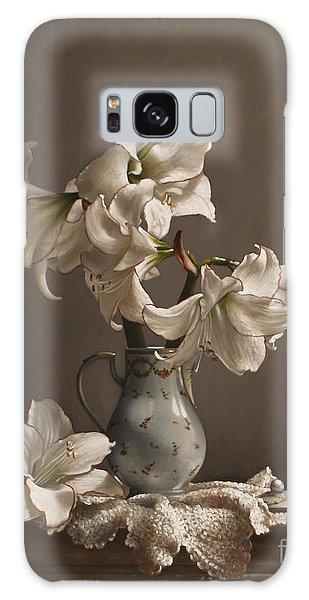 Amaryllis Galaxy Case - Amaryllis In A French Chocolate Pot by Lawrence Preston