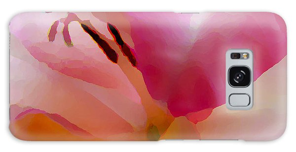 Gladiola Photo Painting Galaxy Case