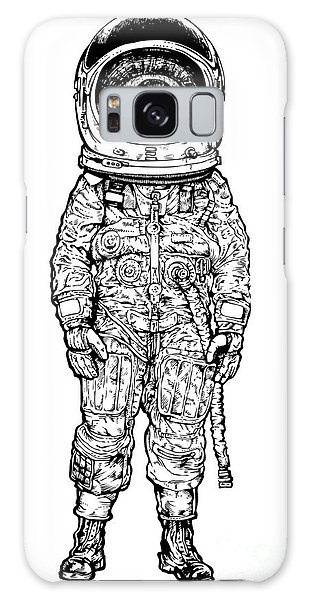 Young Galaxy Case - Amazement Astronaut. Vector Illustration by Jumpingsack