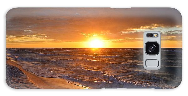 Amazing Sunrise Colors And Waves On Navarre Beach Galaxy Case by Jeff at JSJ Photography