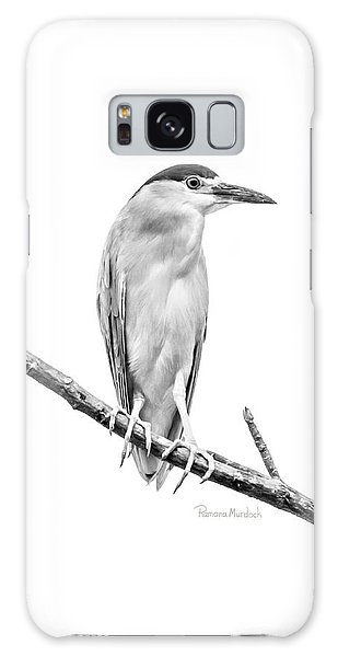 Amazonian Heron Black And White Galaxy Case