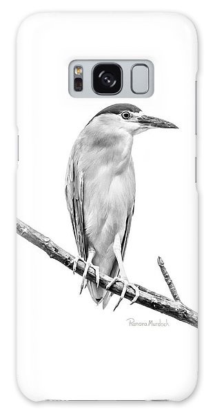 Amazonian Heron Black And White Galaxy Case