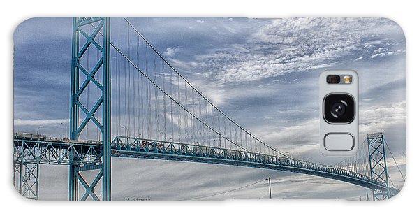 Ambassador Bridge From Detroit Mi To Windsor Canada Galaxy Case