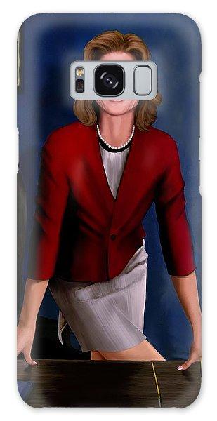 Ambassador Kennedy At Her Desk Galaxy Case by Jann Paxton