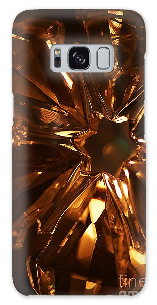 Amber Crystal Snowflake Galaxy Case by Linda Shafer