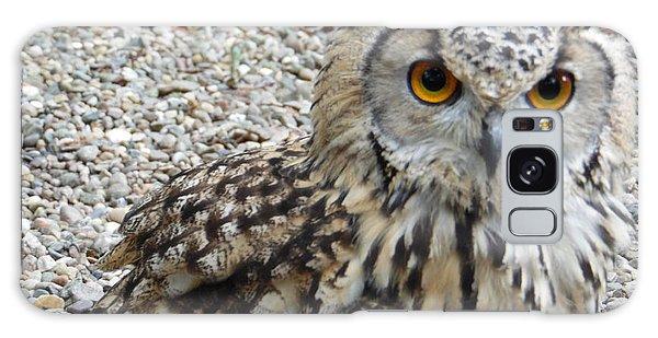 Amber Eyes Owl Galaxy Case