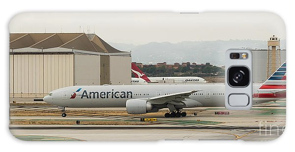American Airliner On Runway At Lax In May 2014 Galaxy Case