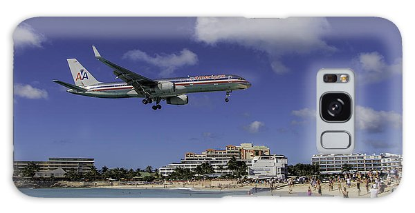 American Airlines At St. Maarten Galaxy Case by David Gleeson