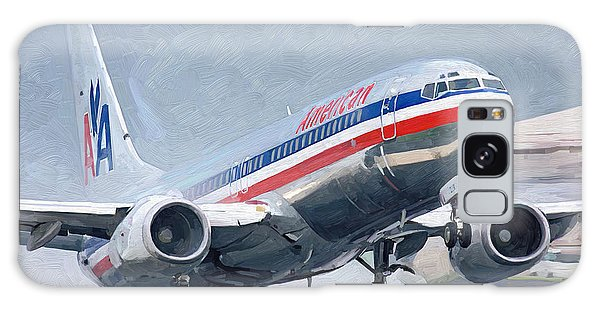 American Airlines Taking Off Galaxy Case