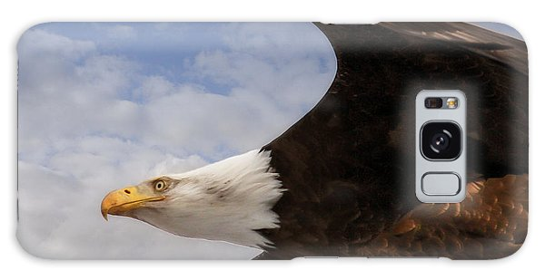 American Bald Eagle Up Close And Personal Galaxy Case by Eleanor Abramson