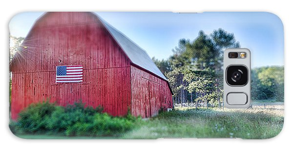 Galaxy Case featuring the photograph American Barn by Sebastian Musial