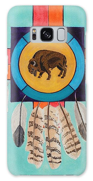 American Bison Dreamcatcher Galaxy Case