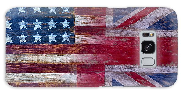 American British Flag 2 Galaxy Case