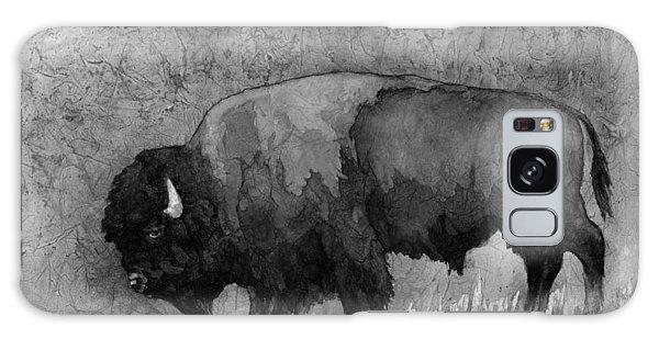 Buffalo Galaxy Case - Monochrome American Buffalo 3  by Hailey E Herrera