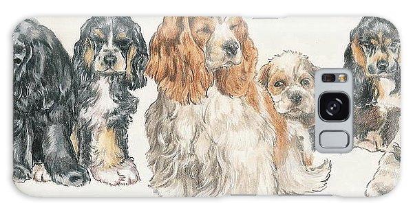 American Cocker Spaniel Puppies Galaxy Case