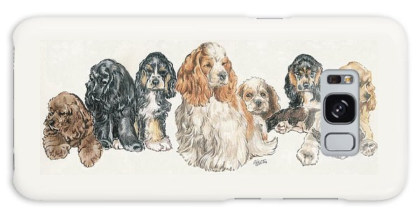 American Cocker Spaniel Puppies Galaxy Case