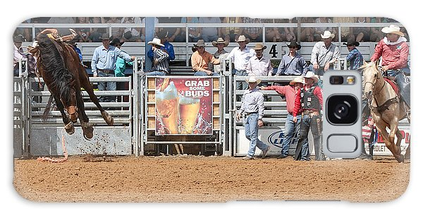 Prca Galaxy Case - American Cowboy Bucking Rodeo Bronc by Sally Rockefeller