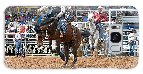 Prca Galaxy Case - American Cowboy Riding Bucking Rodeo Bronc II by Sally Rockefeller