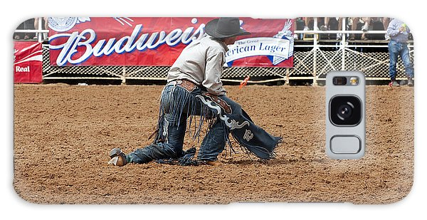 Prca Galaxy Case - American Cowboy Thrown From A  Bucking Rodeo Bronc by Sally Rockefeller