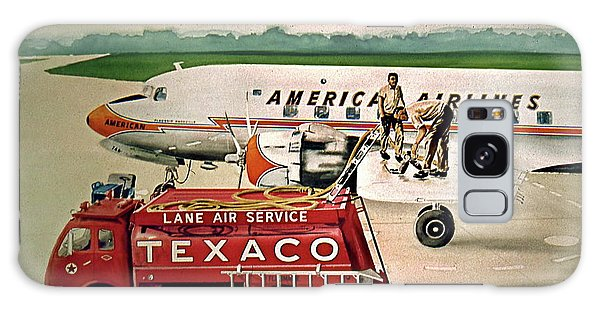 American Dc-6 At Columbus Galaxy Case by Frank Hunter