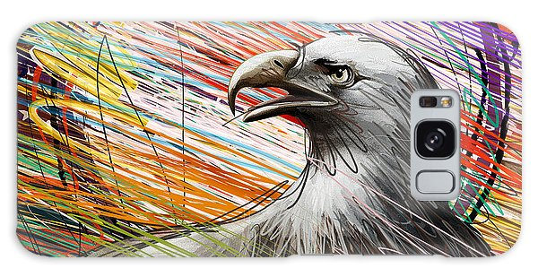 Feather Stars Galaxy Case - American Eagle by Peter Awax