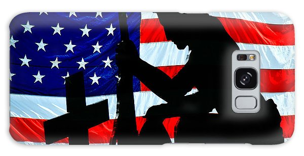 A Time To Remember American Flag At Rest Galaxy Case