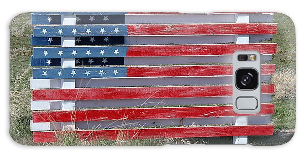 American Flag Country Style Galaxy Case by Sylvia Thornton