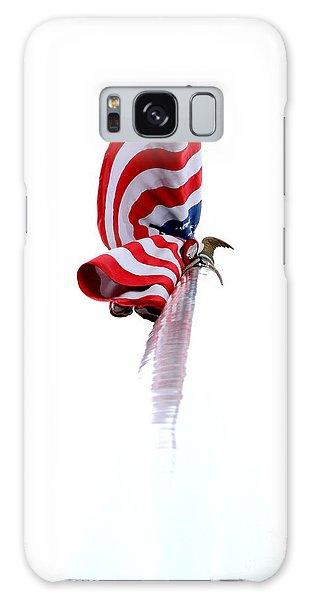 American Flag Galaxy Case