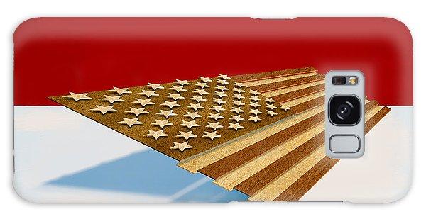 American Flag Wood Galaxy Case