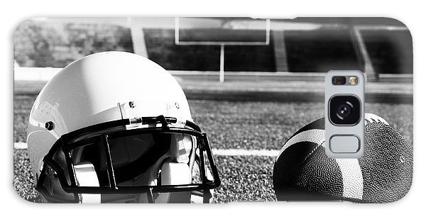 American Football And Helmet On Field Galaxy Case