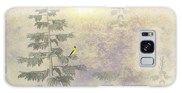 American Goldfinch Morning Mist  Galaxy Case
