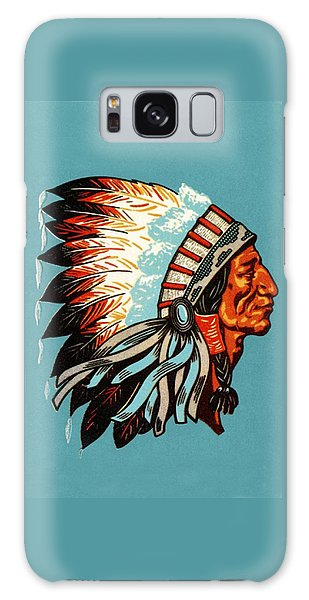 American Indian Chief Profile Galaxy Case