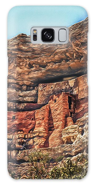American Indian Cliff Dwelling  ... Galaxy Case by Chuck Caramella