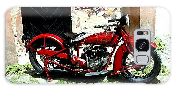 American Indian   Indian Motorcycle  Galaxy Case by Iconic Images Art Gallery David Pucciarelli
