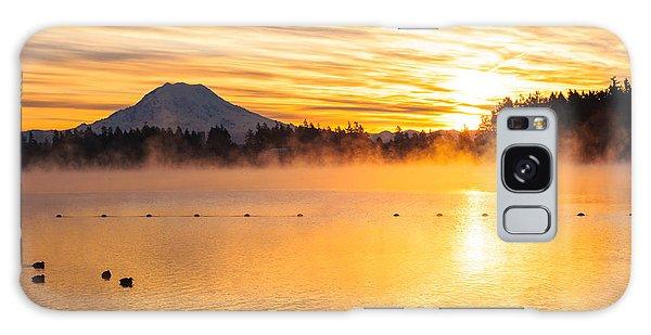American Lake Misty Sunrise Galaxy Case