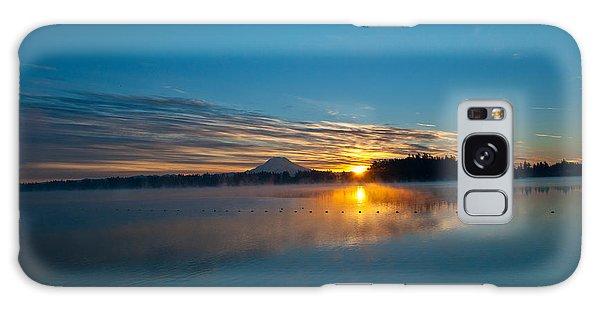 American Lake Sunrise Galaxy Case