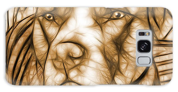 American Pit Bull - Sepia Sketch  Galaxy Case by Michael Spano