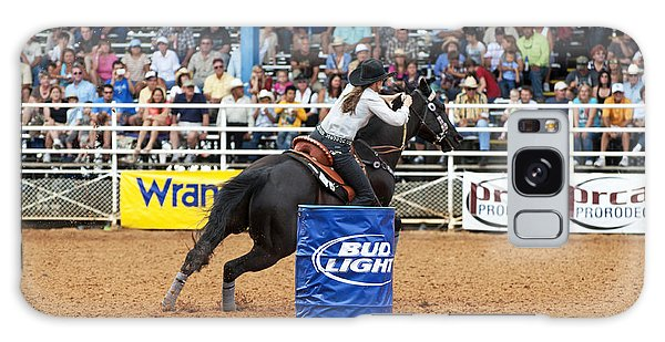 Prca Galaxy Case - American Rodeo Female Barrel Racer Dark Horse Iv by Sally Rockefeller